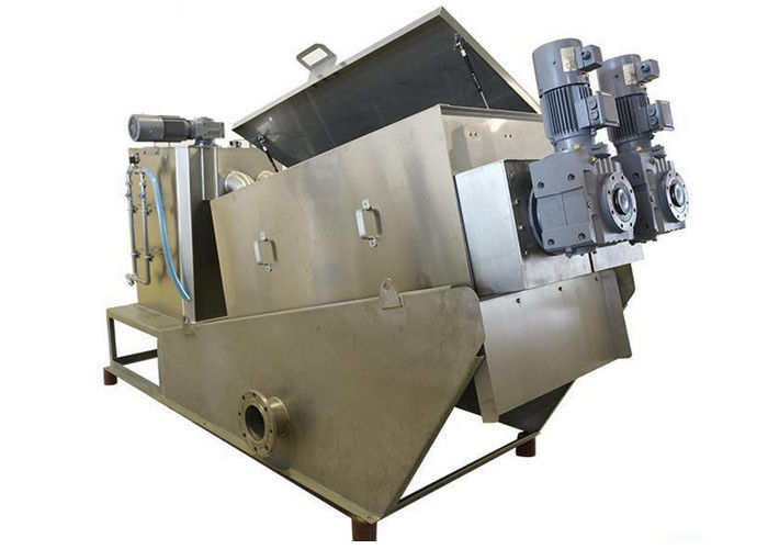 Oily Sludge Thickner And Dehydrator Plate & Frame Filter Press 90 - 180 kg / h Dry sludge DS