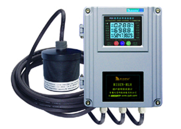 Ultrasonic Open Channel Ultrasonic Flow Meters / Ultrasonic Water Meter For Sewage Treatment Plant STP 200m3/H