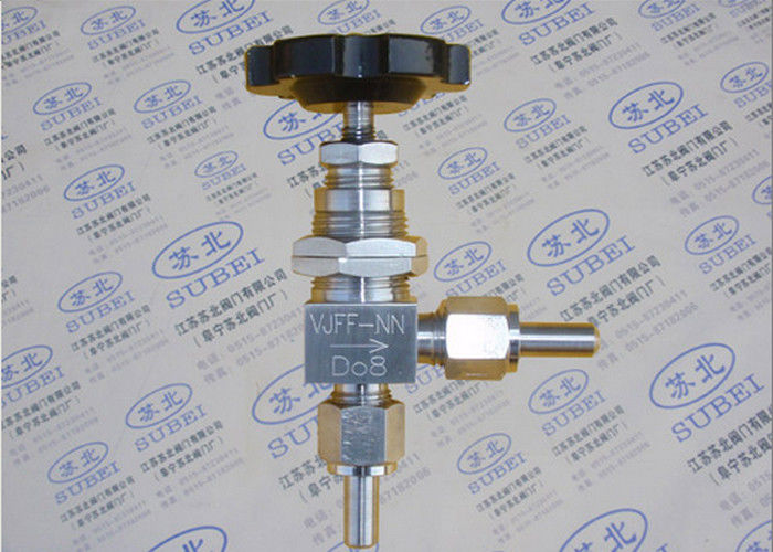 1Cr18Ni9Ti Grooved Piping Systems / Angle  panel mount needle valve for ventilation